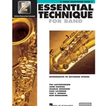 Essential Technique for Band Book 3 w/ EEi - Intermediate to Advanced - Tenor Sax