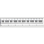 Mayfair KS64006 White Keyboard Ruler