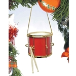 Music Treasures 463161 Marching Drum Ornament (red)