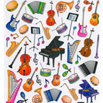 AIM Gifts AIM29521 Stickers-Musical Instruments