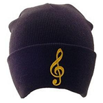 AIM Gifts 9301B G-Clef Knit Hat (black)