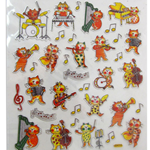 AIM Gifts 29522 Musical Cat Stickers