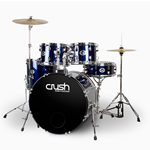 Crush Drums and Percussion AL528903 Alpha 5pc kit w/cymbals - red