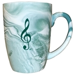 AIM Gifts 56147 Marbelized Music Mug (Green)