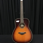 Yamaha FG-TA-BS FG TransAcoustic dreadnought body; solid Sitka spruce top, mahogany back and sides, die-cast tuners,