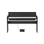 LP180BK Korg LP-180 Digital Piano - Black, includes cover, stand, three pedal unit