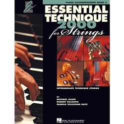 Essential Technique 2000 for Strings Book 3 - Piano Acc