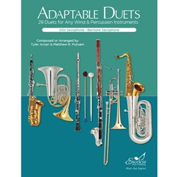 Adaptable Duets for Alto Saxophone and Baritone Saxophone -